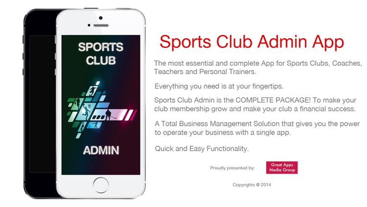Sports Club Admin - Management Business solution