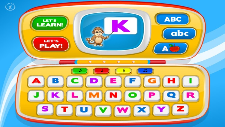 Letters Laptop A to Z · TeachMe Alphabet, ABC Letter Quiz and Letter Recognition, Flash Cards and Spelling Activities - Learning Reading School Games for Kids: Toddler, Preschool, Kindergarten by Abby Monkey®