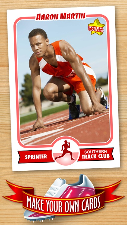 Track and Field Card Maker - Make Your Own Custom Track and Field Cards with Starr Cards