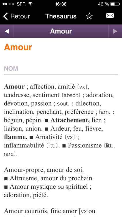 Thesaurus Larousse screenshot-0