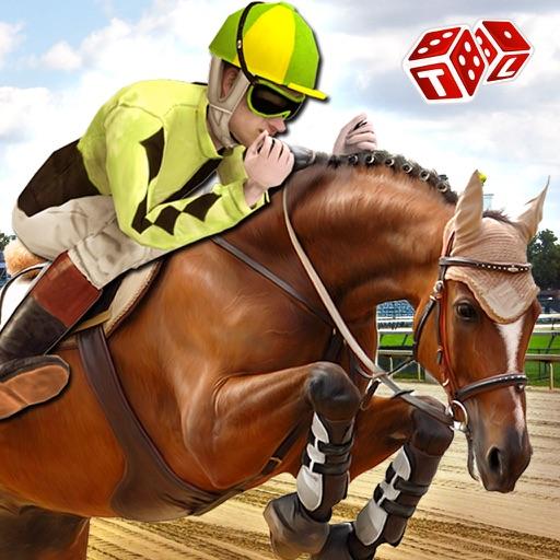 Скачки Simulator 3D - Real Жокей езда Моделирование игры на горах Derby Track