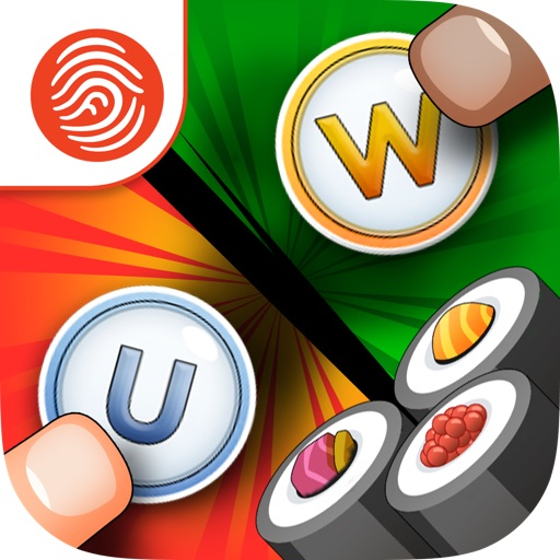 Sushi Scramble Starter: Multiplayer Word Game - A Fingerprint Network App