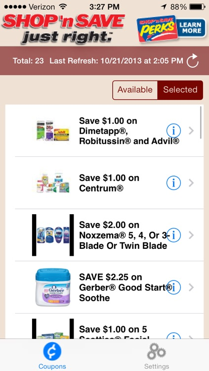 SHOP 'n SAVE Digital Coupons