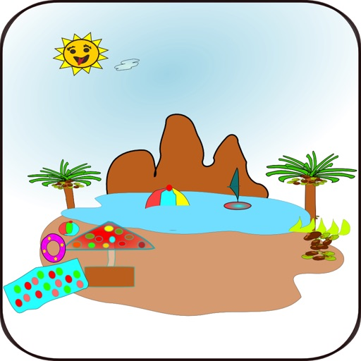 Tropical Brain Game Match-2 SD