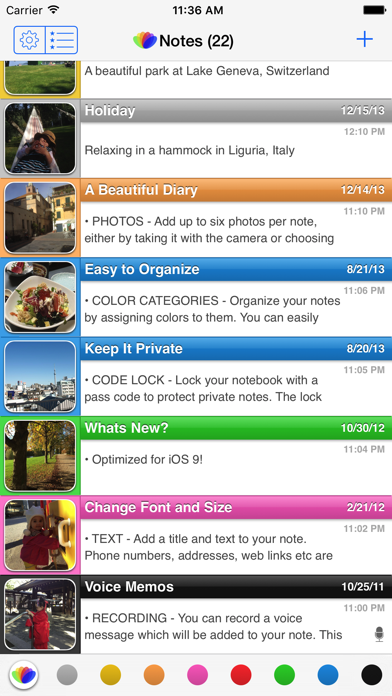 Screenshot #1 pour all-in Notes