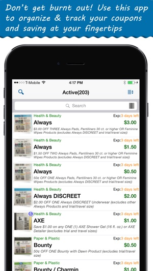 coupon tracker app