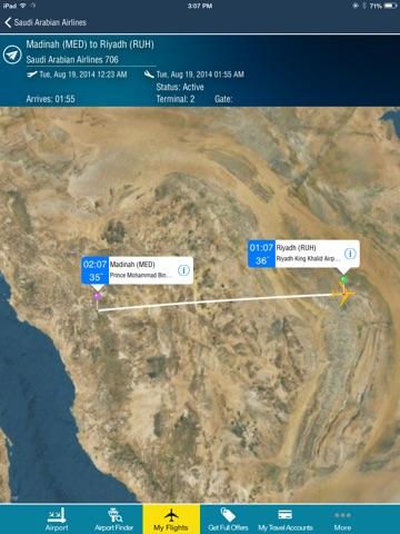 Riyadh King Kahlid Airport Pro (RUH) Flight Tracker Premium Saudi Arabian air radar airlines-ipad-0