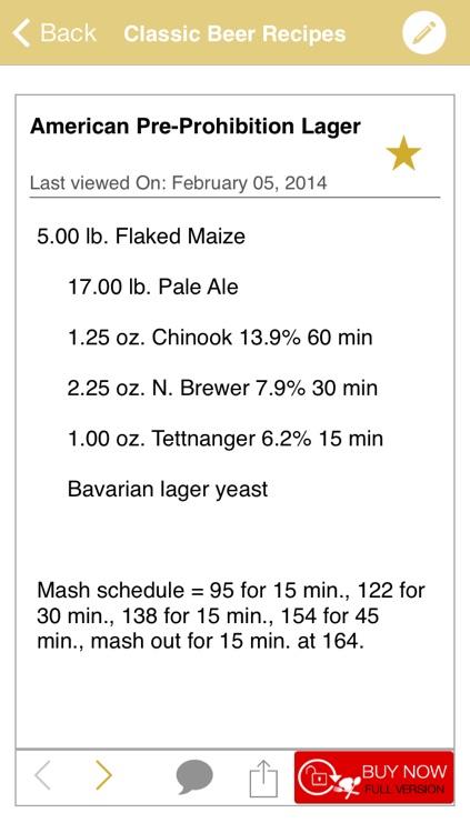 Classic Beer Recipes
