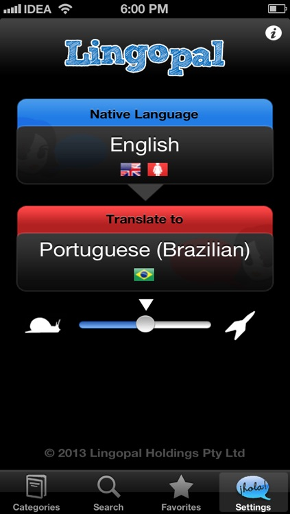 Lingopal Portuguese (Brazilian) - talking phrasebook screenshot-0