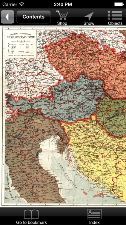 Austria-Hungary (1920). Historical map.