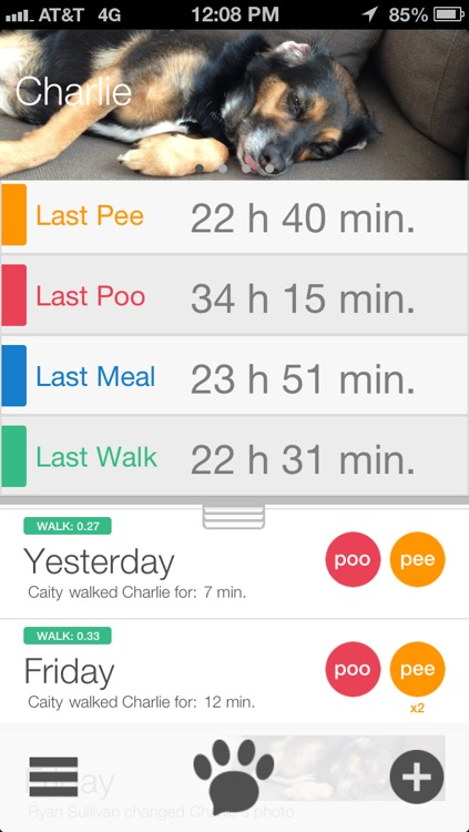 Paw Tracks - dog walking pet tracker for groups and friends