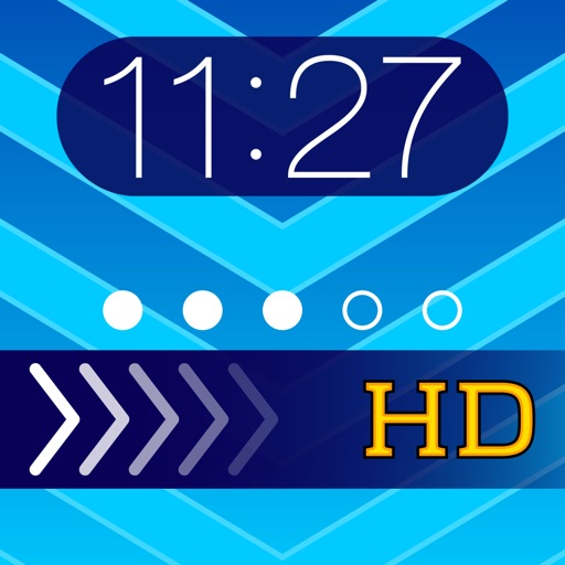 Theme Foundry HD – EZ Lock Screen, Slide to Unlock, Color Dock, Dots & Status Bar Background Wallpaper Themes to use your own Photos!