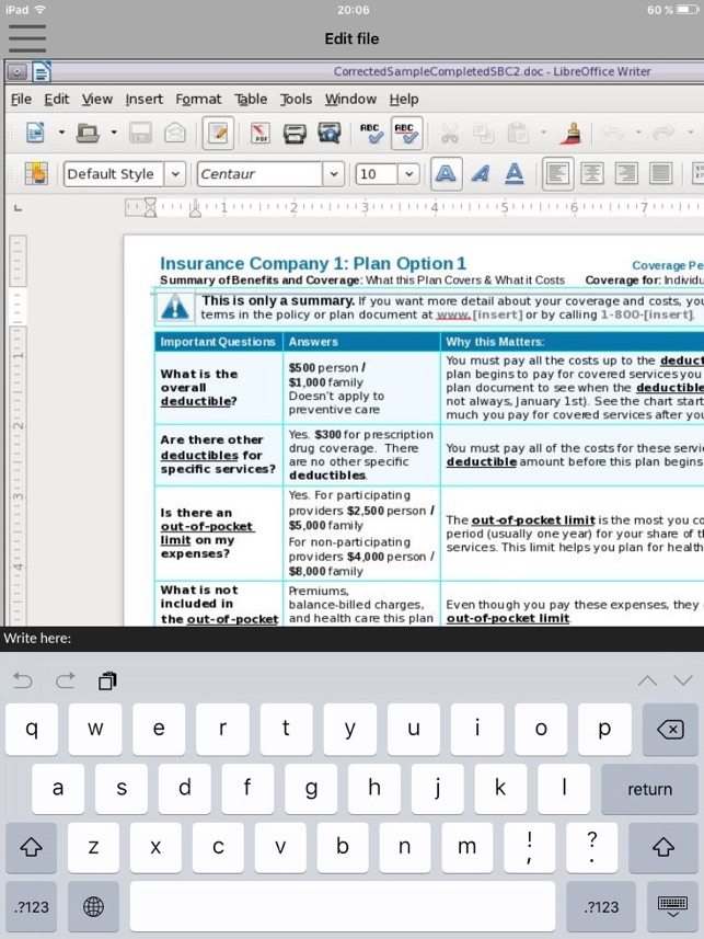 GlobalOffice Suite for LibreOffice xls, doc & odp on the App