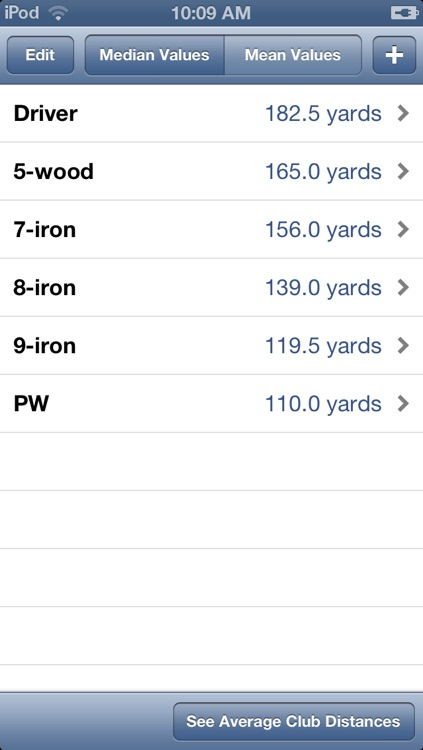 Golf Club Distances screenshot-3