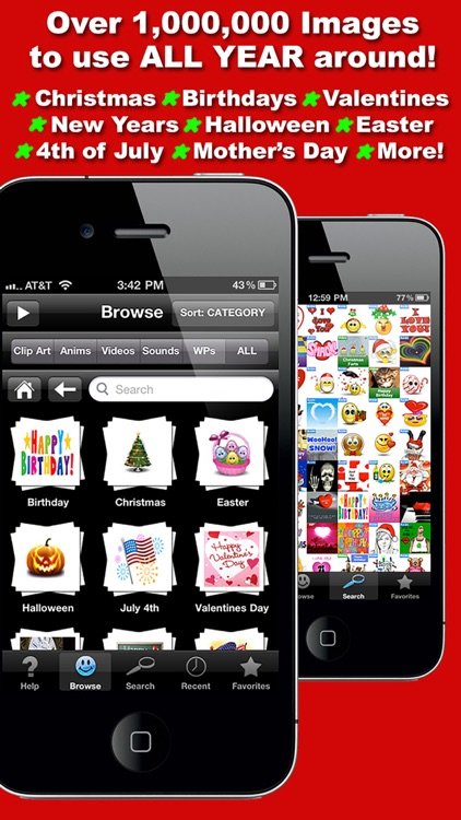 Holiday Greetings - 3D Animations, Emoji, Emoticons, Sounds & Videos for Special Occasions