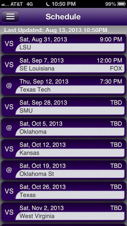 TCU Football Live