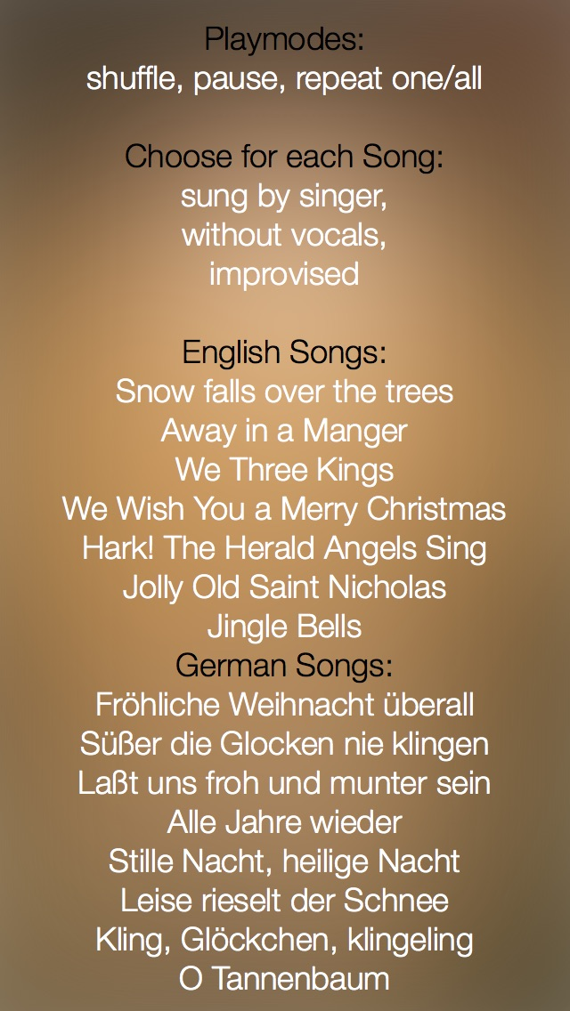 Christmas Music - studio recorded songs to sing along and karaoke ...