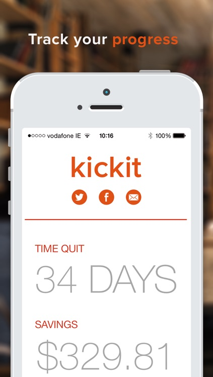 kickit 2 - Quit Smoking, Incentivized
