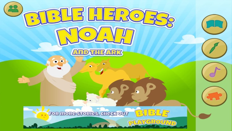 Bible Heroes: Noah and the Ark - Bible Story, Puzzles, Coloring, and Games for Kids