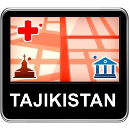 Tajikistan Vector Map - Travel Monster