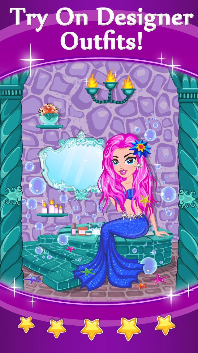 Princess Fairy Mermaid Beauty Spa - Cute Fashion Cinderella Makeup And Dress Up Game For Girls