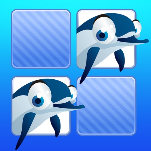 Memo Game Sealife for kids and young toddlers