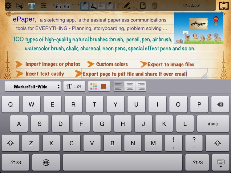 ePaper - Sketch, Write, Paint and Take Notes on a Digital Paper Notebook screenshot-3