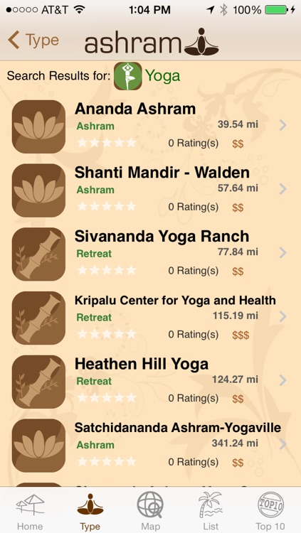 Ashram yoga retreat and spa finder screenshot-3