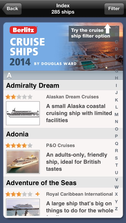 Berlitz Cruise Ships 2014 - A Directory Of Oceangoing Cruise Ships By Douglas Ward screenshot-1