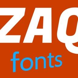 zaqada font picker