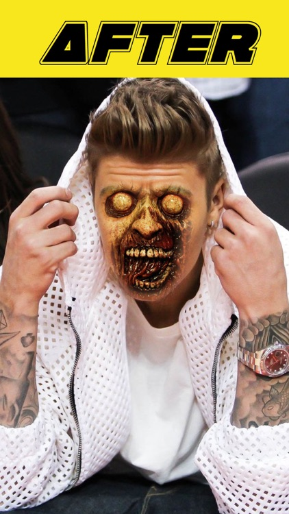 Zombie Face Maker - Create Scary Pictures with Zombie Masks! Perfect for Halloween. screenshot-3