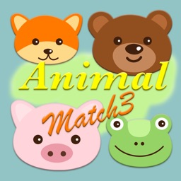 animal face match match 3 - preschool and kindergarten learning games