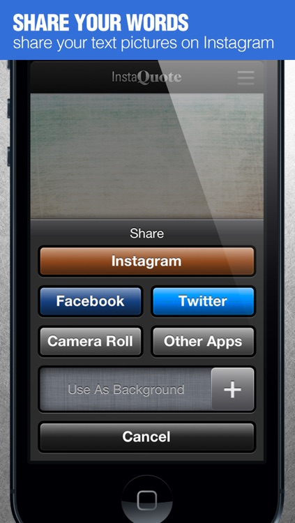 InstaQuote Pro - add text captions to photos and pictures for Instagram screenshot-4