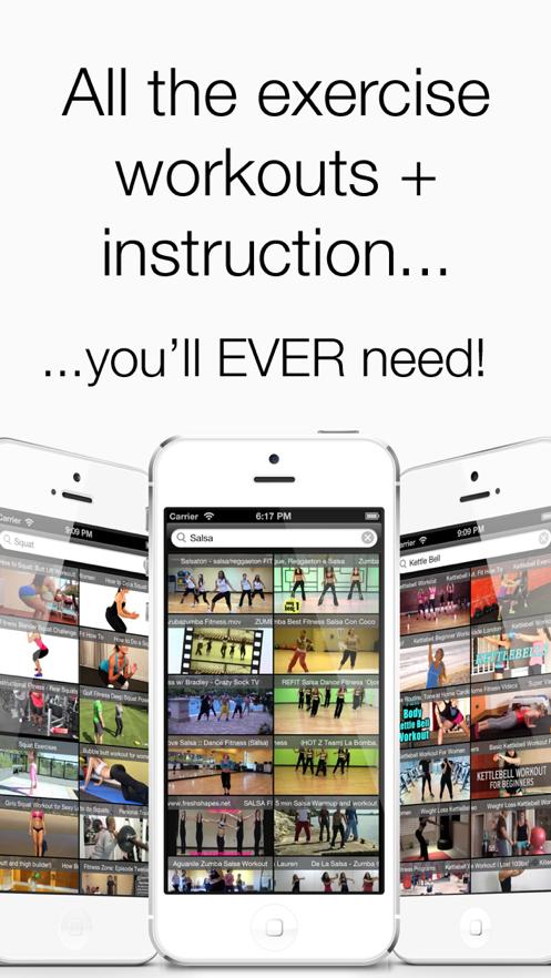 Fitness Videos - Pilates, Yoga, Zumba, Core Strength Workouts! App 截图