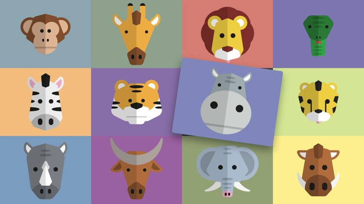 Wild Animals — See, hear & click the animals. For babies & kids aged 0-3 years.