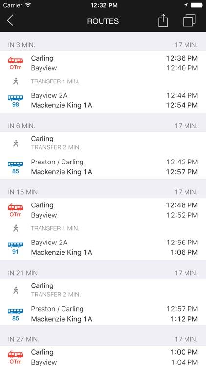 ezRide Ottawa - Offline Public Transport Trip Planner