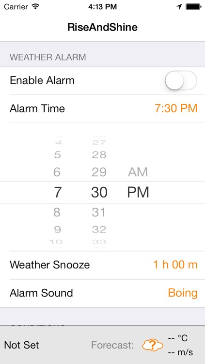 RiseAndShine - Weather Alarm Clock