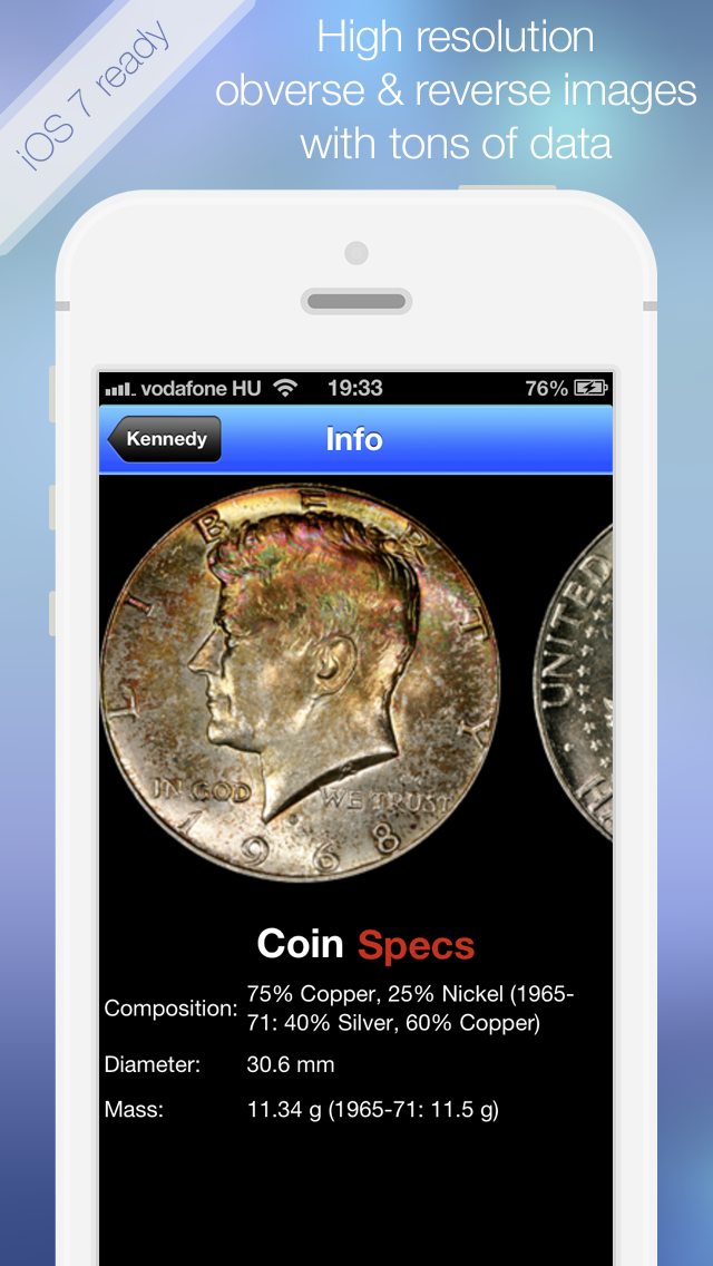 CoinBook Pro: A Catalog of U.S. Coins - an app about dollar,