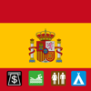 Leisuremap Spain, Camping, Golf, Swimming, Car parks, and more