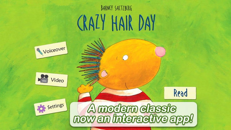 Crazy Hair Day - by Barney Saltzberg (iPad version by Auryn Apps)
