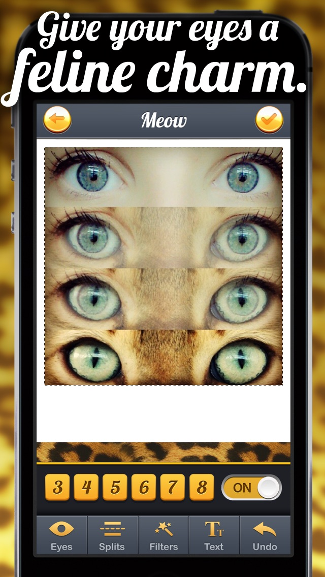 Screenshots of TigerEyes - Blend Yr Face to Ultra Awesome Tiger, Reptile or Cat Eyes Splits! for iPhone
