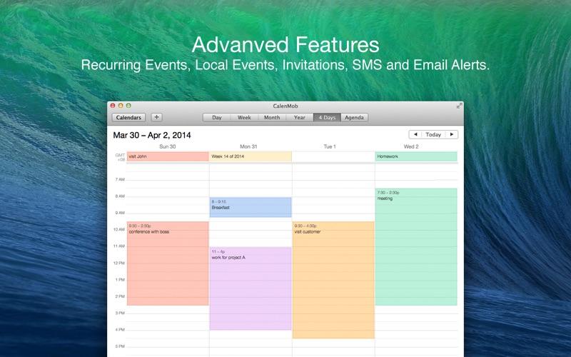 CalenMob - Sync with Google Calendar Screenshot