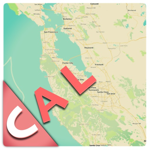 California offline map and guide (FREE edition)