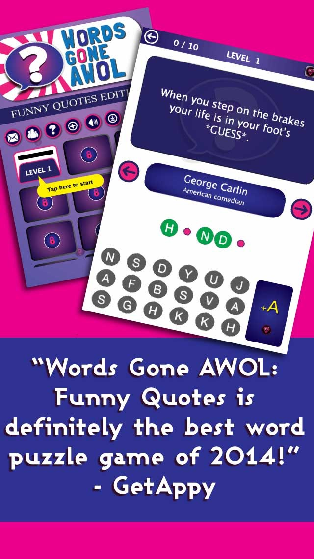 Words Gone AWOL - Funny Quotes   App Price Drops
