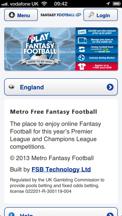Fantasy Football from Metro screenshot-0