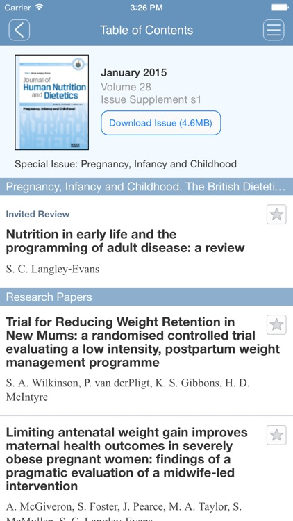 Journal of Human Nutrition and Dietetics App