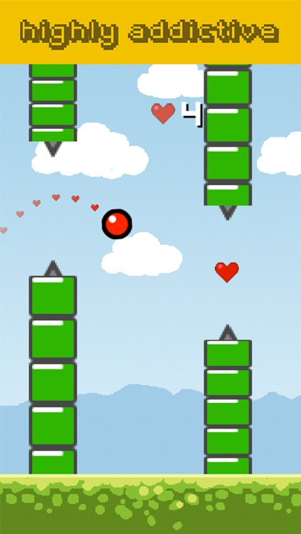 Flying Red Bouncing Ball- Wrecking Spikes