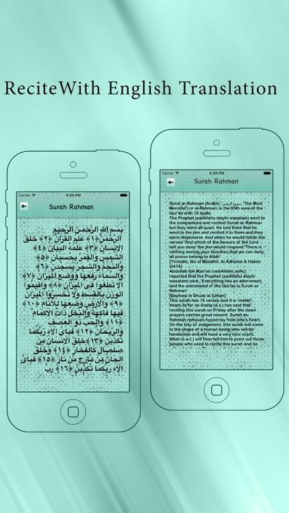 Surah Rahman With In Urdu & English Translation Pro screenshot-3