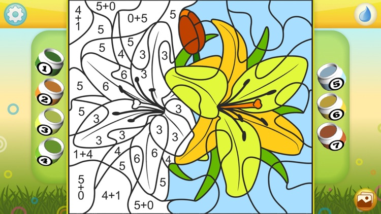 Color by Numbers - Flowers
