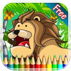 Dos Desenhos Animados Coloring Book Animal Desenho E Pintura